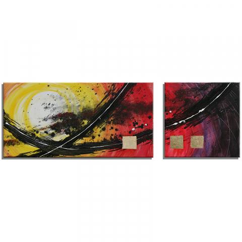 """Acrylbild """"Goldlight"""" 2er Set"""