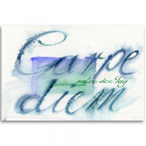 """Poster """"Carpe diem"""" Spruch, Zitate, Weisheiten, Wandbild"""