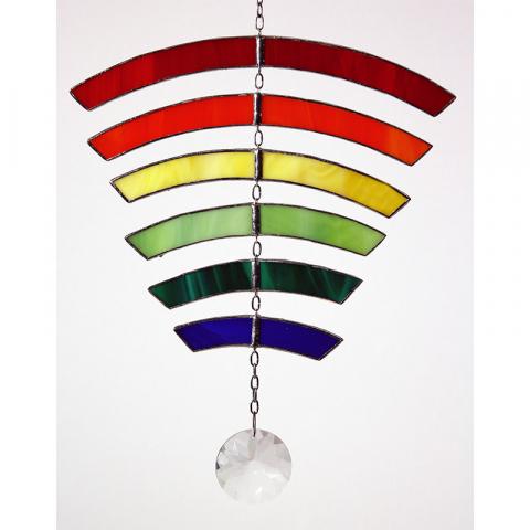 """Glashänger """"Regenbogen"""" Tiffanyglas, Glasbild"""