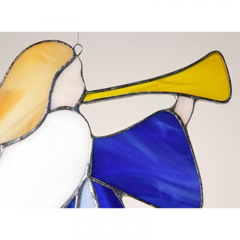 """Glashänger """"Trompeten Engel"""" Tiffanyglas"""