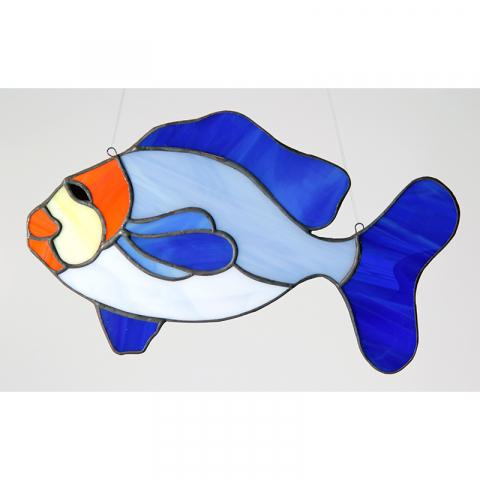 """Glashänger """"Fisch"""" Tiffany-Glasbild"""