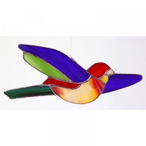 "Glashänger ""Vogel 5"" Glasbild, Tiffanyglas"