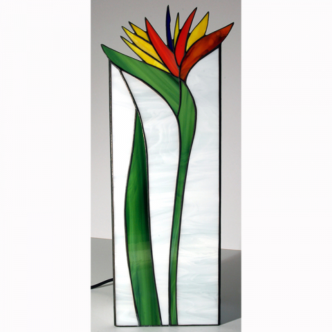 "Tiffany Leuchte ""Strelicie"" Tiffanyglas, Stained glass, Handmade"