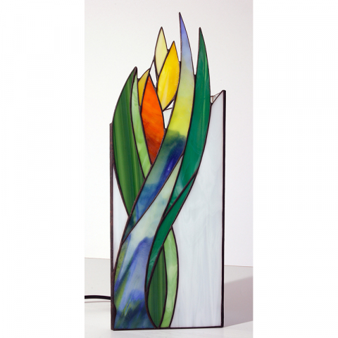 "Tiffany Leuchte ""Frühling"" Tiffany Stil, Stained glass, Handmade"