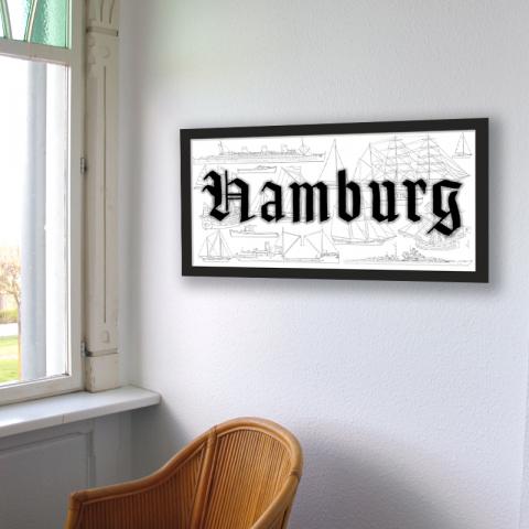City-Poster Hamburg 3 Gotisch