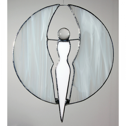 "Glashänger ""Engel schwebend"" Perle, Tiffanyglas"