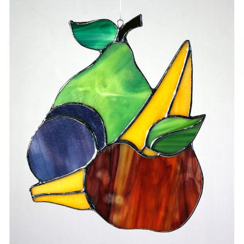 "Glashänger ""Obst"" Tiffany-Glasbild"