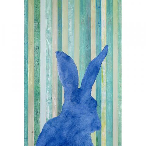 "Poster ""Hase"" Marina, Blau"