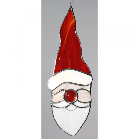 """Glashänger """"Weihnachtsmann"""" Glasbild, Tiffanyglas"""