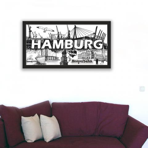 City-Poster Hamburg