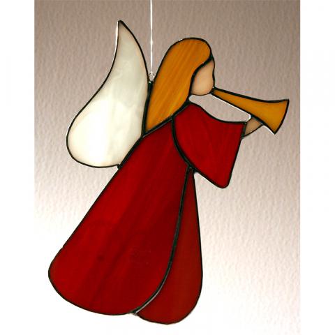 "Glashänger ""Engel-Trompete"" Tiffanyglas"