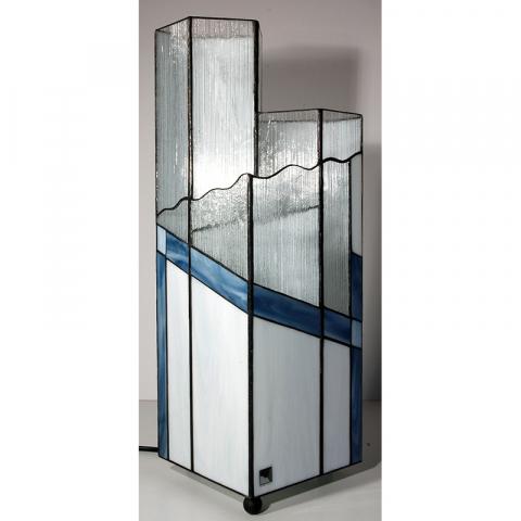 "Tiffany Leuchte ""Manhattan"" Tiffany Stil, Stained glass, Handarbeit Made in Germany"