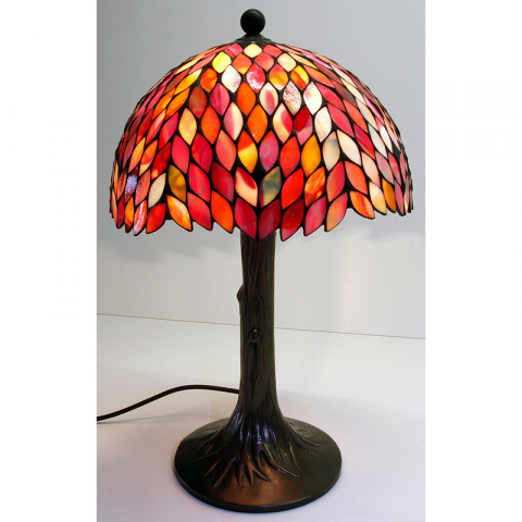 "Tiffany Leuchte ""Traumbaum 30"" Tiffany Stil, Stained glass, Handarbeit Made in Germany"