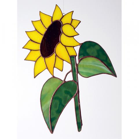 "Glashänger ""Sonnenblume Gross"" Tiffany-Glasbild, Glasbild"