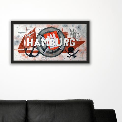 City-Poster Hamburg 2 Grafik