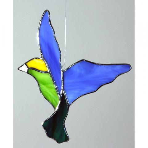 "Glashänger ""Vogel 6"" Glasbild, Tiffanyglas"