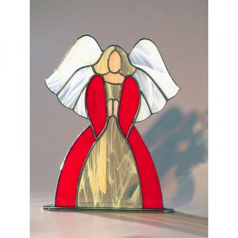 """Windlicht """"großer Engel"""" Tiffanyglas"""