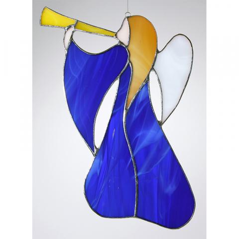 """Glashänger """"schwungvoller Trompeten Engel"""" Tiffanyengel"""