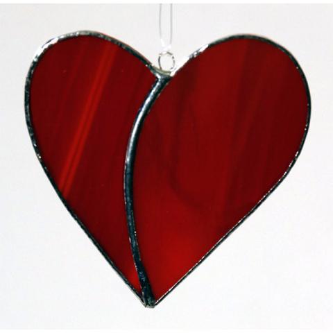 """Glashänger """"Herz klein"""" Tiffanyglas, Glasbild"""