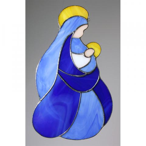 """Glashänger """"Maria mit Jesuskind"""" Tiffanyglas"""