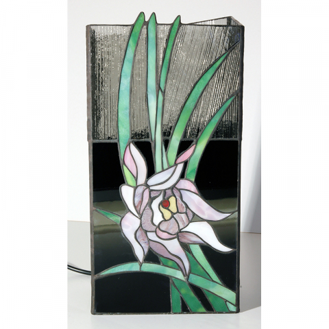 """Tiffany Leuchte """"Orchidee"""" Tiffany Stil, Stained glass, Handarbeit Made in Germany"""