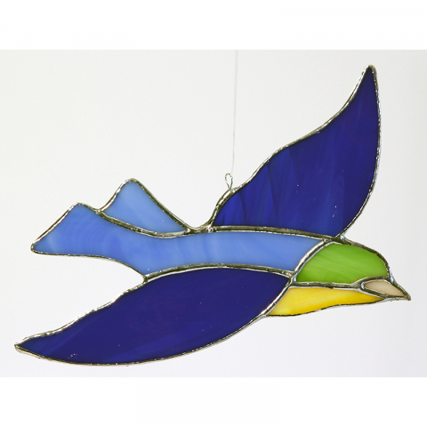 "Glashänger ""Vogel 1"" Glasbild, Tiffanyglas"