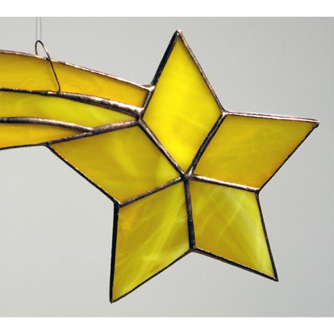 """Glashänger """"Komet"""" gelb, Tiffanyglas"""