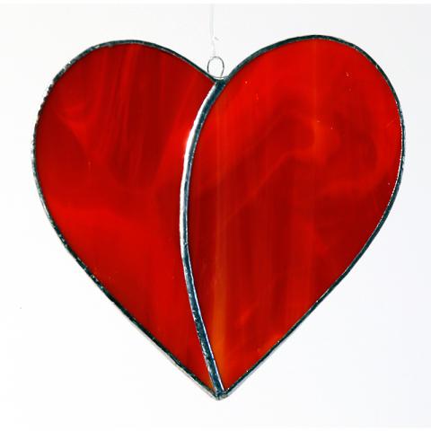 """Glashänger """"Herz groß"""" Tiffanyglas, Glasbild"""