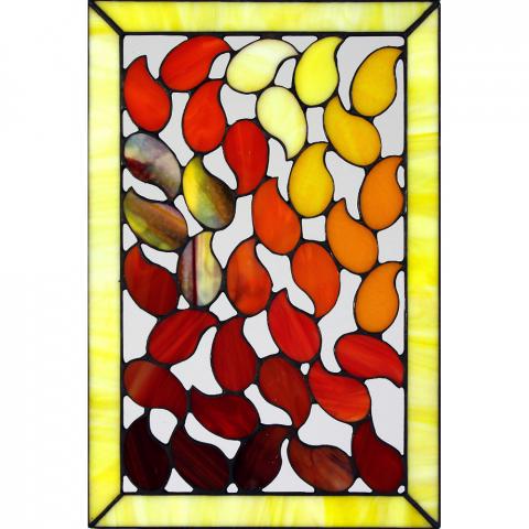 "Glashänger ""Flamme Two"", Tiffanyglas, Glasbild"
