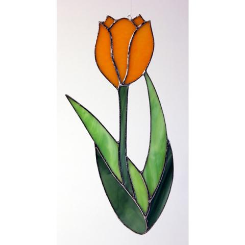 "Glashänger ""Tulpe"" Tiffanylas, Glasbild"